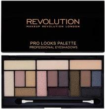 Палетка теней, 15 оттенков - Makeup Revolution Pro Looks Palette — фото N1