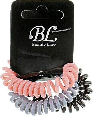 Набор резинок для волос, 405004, пудровая+серая+черная - Beauty Line — фото N1