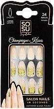 Духи, Парфюмерия, косметика Набор накладных ногтей - Sosu by SJ False Nails Long Stiletto Champagne Kisses