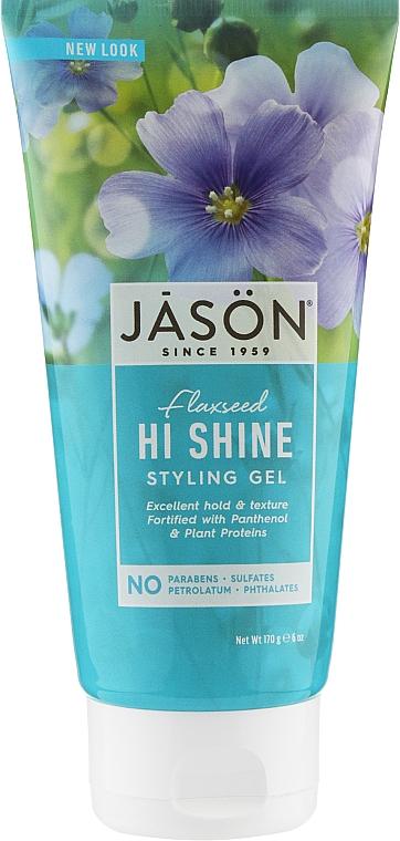 Гель для укладки волос - Jason Natural Cosmetics Flaxseed Hi Shine Styling Gel