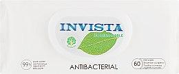 Духи, Парфюмерия, косметика Антибактериальные влажные салфетки, 60 шт - Invista Biodegradable Antibacterial