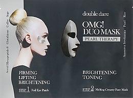 """Духи, Парфюмерия, косметика Комплекс двухкомпонентный из маски и патчей """"Сияние и тонизирование"""" - Double Dare OMG! Duo Mask Pearl Treatment"""
