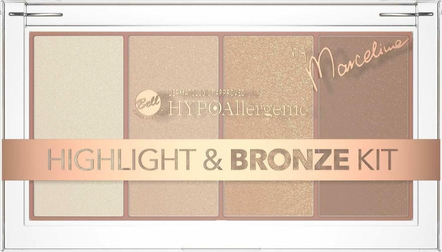 Палетка хайлайтеров и бронзеров для лица - Bell HYPOAllergenic Highlight & Bronze Kit by Marcelina
