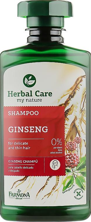 Шампунь женьшень для матовых тонких и нежных волос - Farmona Shampoo Ginshen
