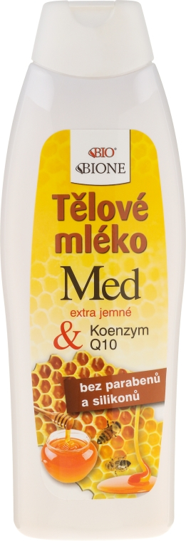 Лосьон для тела - Bione Cosmetics Honey + Q10 Regenerative Body With Vitamin E Lotion