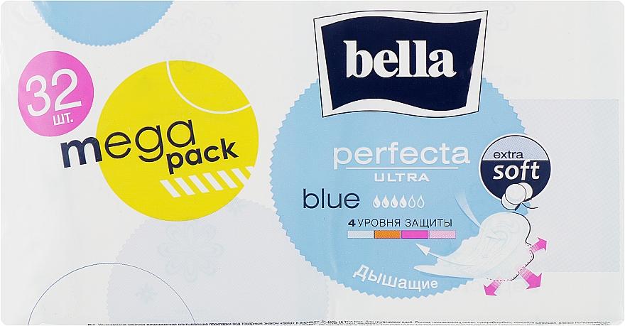 Прокладки Perfecta Blue Soft Ultra, 32 шт - Bella