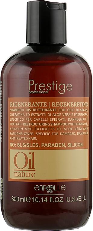 Восстанавливающий шампунь с аргановым маслом и кератином - Erreelle Italia Prestige Oil Nature Regenereting Shampoo