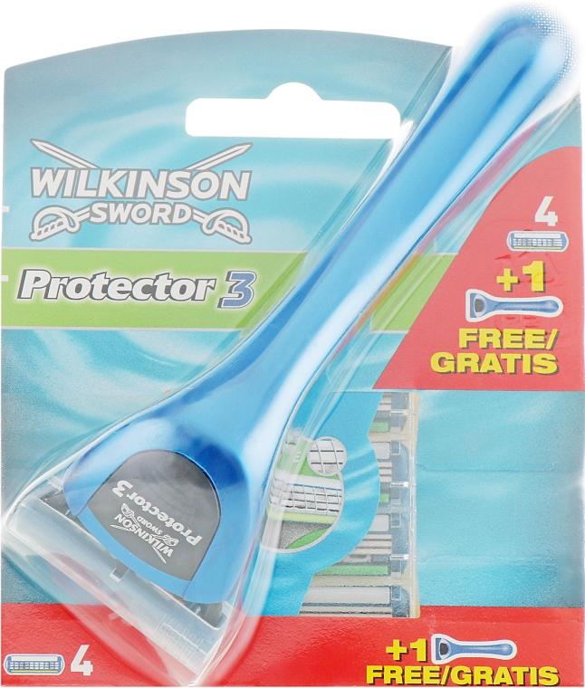 Станок + 5 сменных лезвий - Wilkinson Sword Protector 3