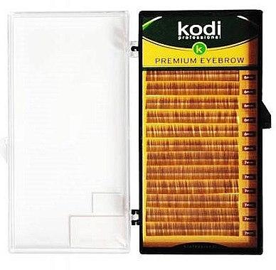 Накладные брови Natural Curl 0.6 (12 рядов: 4/7) - Kodi Professional — фото N1