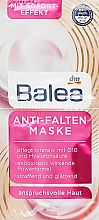 Духи, Парфюмерия, косметика Маска для лица против морщин с увлажняющим пантенолом - Balea Maske Anti-Falten