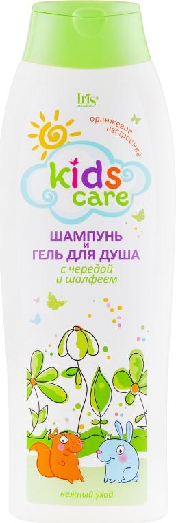 Детский шампунь и гель для душа с чередой и шалфеем - Iris Cosmetic Kids Care