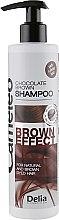 Шампунь с эффектом углубления цвета для коричневых волос - Delia Cameleo Brown Effect Shampoo — фото N1