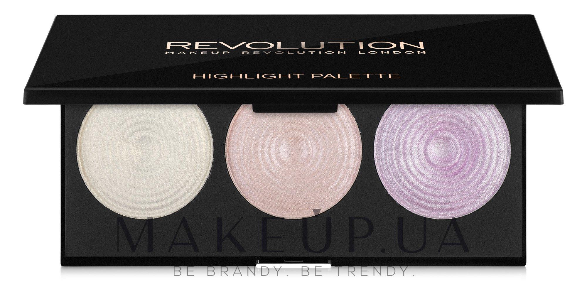 Палитра подчеркивающих хайлайтеров для лица - Makeup Revolution Highlighter Palette — фото Highlight