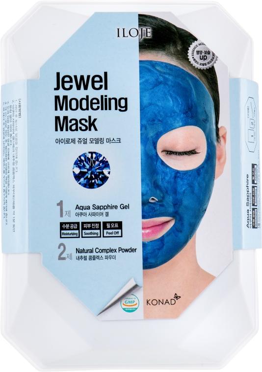 "Набор ""Aqua Sapphire"" - Konad Iloje Jewel Modeling Mask (mask/55g + bowl + spatula)"