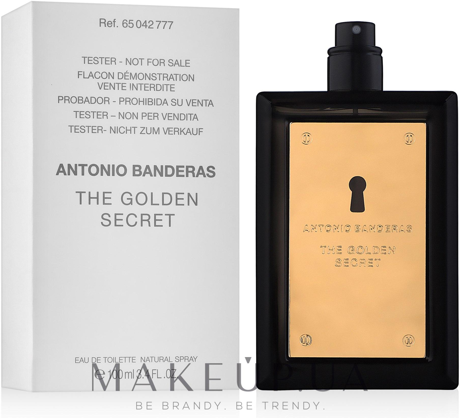 Antonio Banderas The Golden Secret - Туалетная вода (тестер без крышечки) — фото 100ml