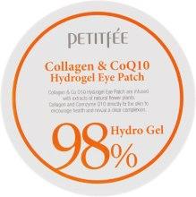 Духи, Парфюмерия, косметика Гидрогелевые патчи для глаз с коллагеном и коэнзимом - Petitfee&Koelf Collagen & Co Q10 Hydrogel Eye Patch