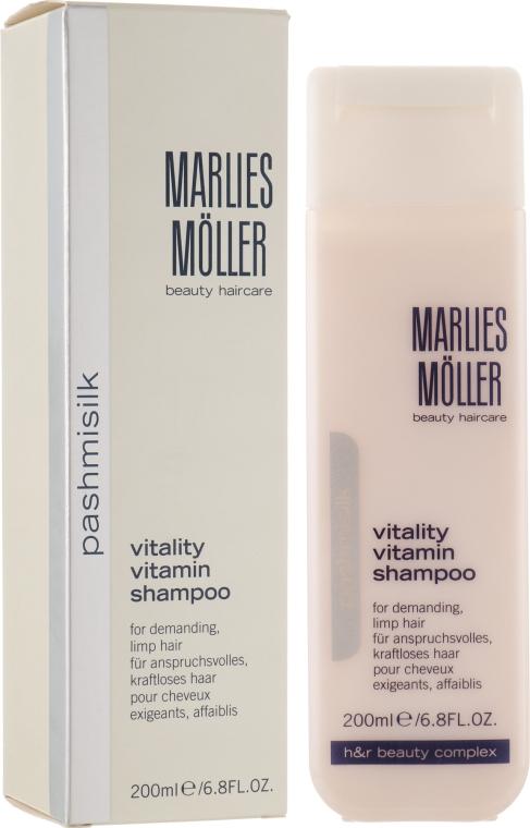 Витаминный шампунь для волос - Marlies Moller Pashmisilk Vitality Vitamin Shampoo