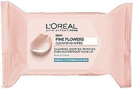 Духи, Парфюмерия, косметика Салфетки для снятия макияжа - L'Oreal Paris Skin Expert Fine Flowers Normal Combination Cleansing Wipes