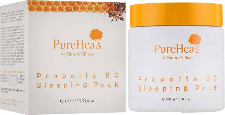 Ночная увлажняющая маска для лица с экстрактом прополиса - PureHeal's Propolis 80 Sleeping Mask