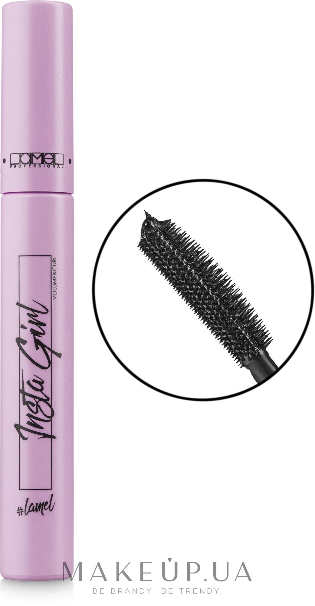 Туш для ресниц - Lamel Professional Insta Girl Volume&Curl Mascara — фото Black