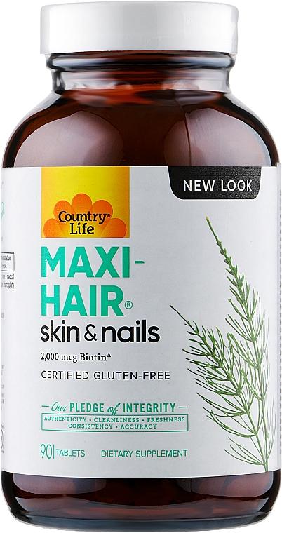 Витамины для волос, кожи и ногтей - Country Life Maxi-Hair