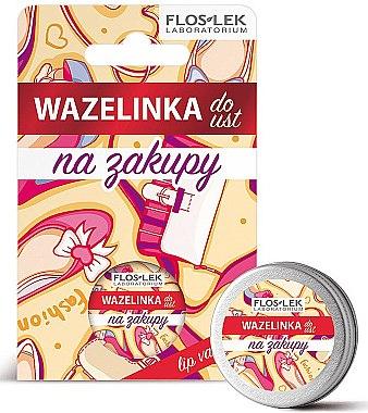 "Вазелин для губ косметический ""Шопинг"" - Floslek Lip Care Cosmetic Lip Vaseline Shopping"