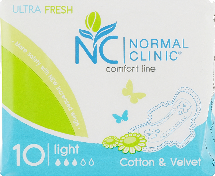"Прокладки ""Ultra fresh cotton"", 10шт - Normal Clinic"