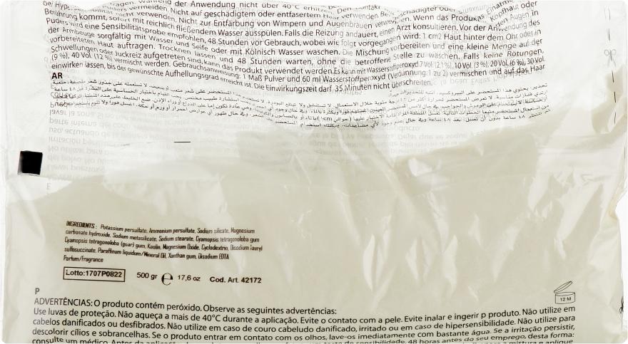 Осветляющий беспылевой порошок в пакете, белый - Inebrya Bleaching Powder White — фото N1