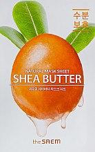 Духи, Парфюмерия, косметика Тканевая маска с экстрактом масла Ши - The Saem Natural Shea Butter Mask Sheet