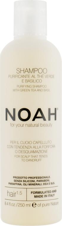 Шампунь с зеленым чаем и базиликом - Noah