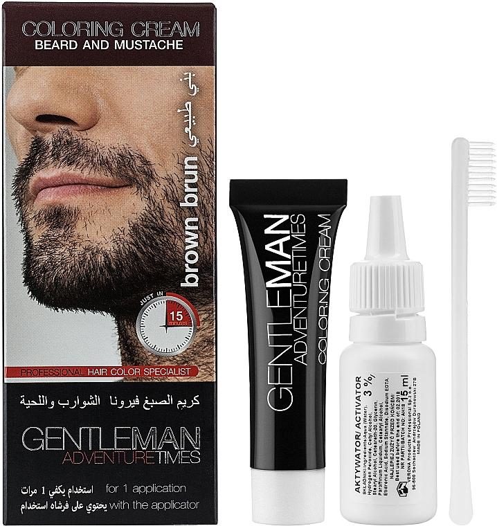 Крем-краска для бороды и усов - Verona Laboratories Gentleman Coloring Cream