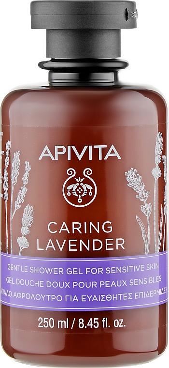 """Гель для душа с эфирными маслами """"Лаванда"""" для чувствительной кожи - Apivita Caring Lavender Shower Gel For Sensitive Skin"""