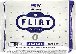 """Духи, Парфюмерия, косметика Прокладки для критических дней """"Premium"""", Soft & Dry, 6 Капель, 6шт - Fantasy Flirt"""