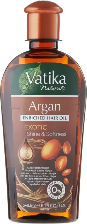 Масло для волос обогащенное арганой - Dabur Vatika Argan Enriched Hair Oil