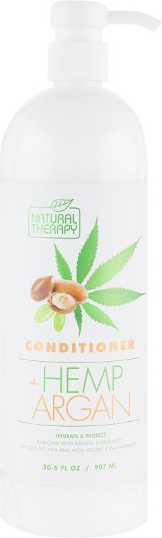 Кондиционер для волос с экстрактом конопли и аргановым маслом - Natural Therapy Hemp + Argan Conditioner