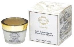 Духи, Парфюмерия, косметика Крем для лица увлажняющий - Bellmar Nanogold Gold Hydra Defense Anti-spot Cream SPF15 50ml