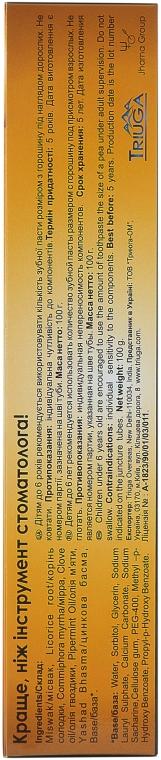 """Зубная паста на основе аюрведических трав """"Мисвак"""" - Triuga — фото N4"""