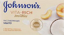 Расслабляющее мыло с йогуртом, кокосом и экстрактом персика - Johnson's® Vita Rich Smoothies — фото N2