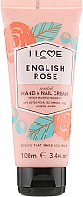 "Духи, Парфюмерия, косметика Крем для рук ""Английская роза"" - I Love English Rose Heand & Nail Cream"