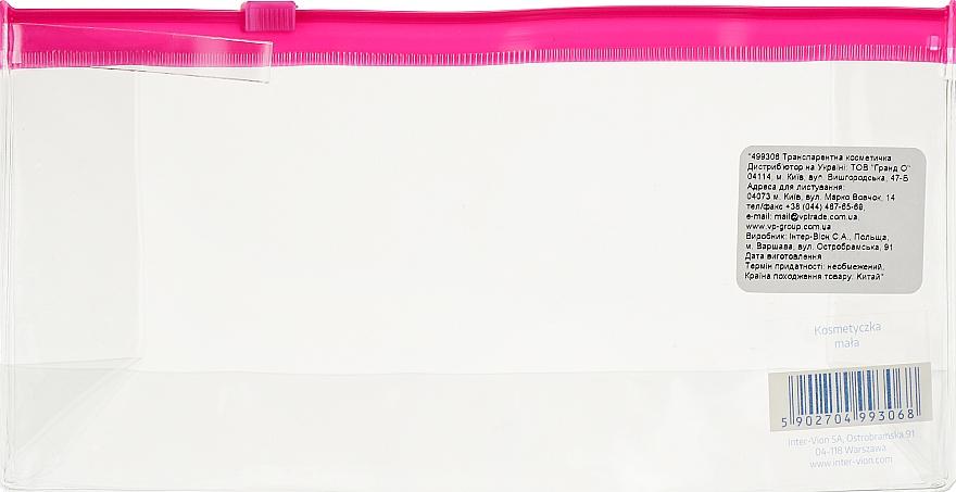 Косметичка дорожная, 499306, прозрачно-розовая - Inter-Vion