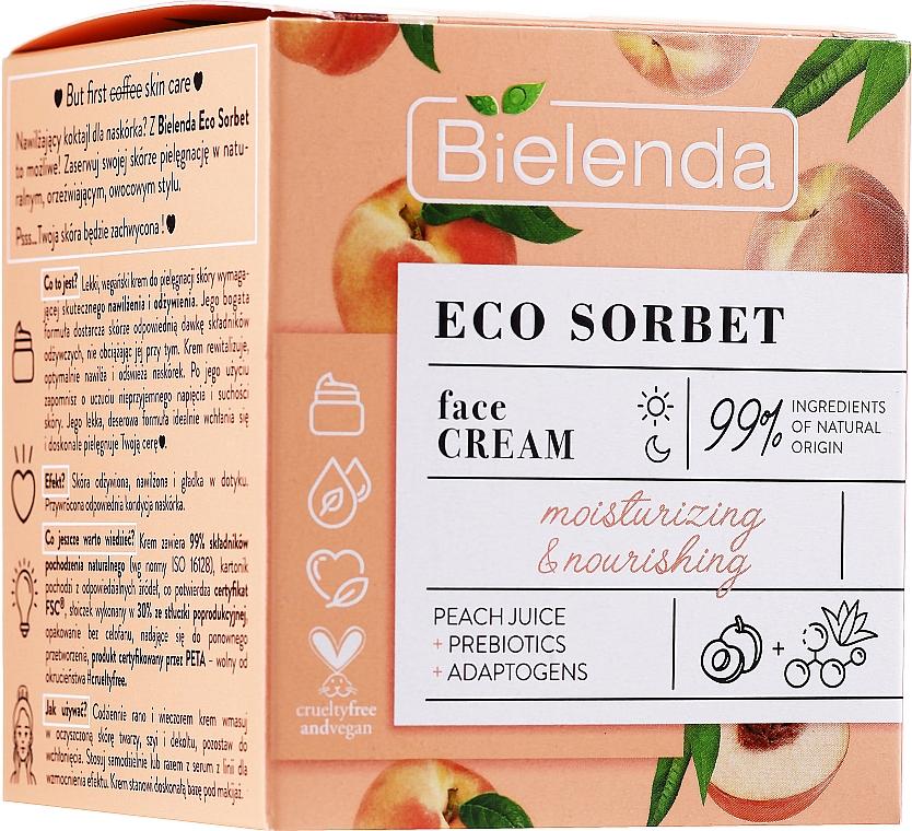 Увлажняющий и питательный крем для лица - Bielenda Eco Sorbet Moisturizing&Nourishing Face Cream
