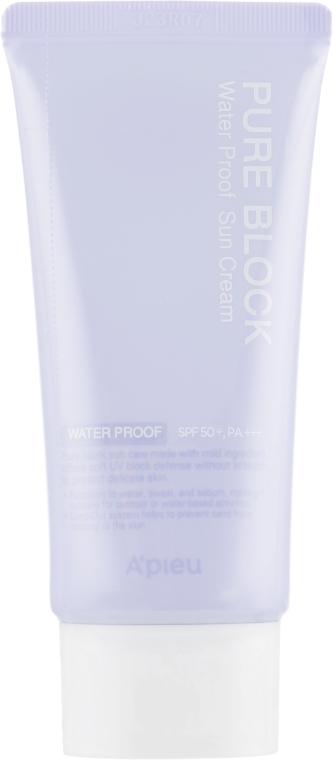 Водостойкий солнцезащитный крем для лица - A'pieu Pure Block Water Proof SPF50+ PA+++