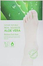 Духи, Парфюмерия, косметика Увлажняющая маска для ног - Nature Republic Real Squeeze Aloe Vera Moisture Foot Mask