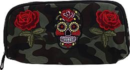 """Духи, Парфюмерия, косметика Косметичка """"Camouflage"""", 95856, розы и череп - Top Choice"""