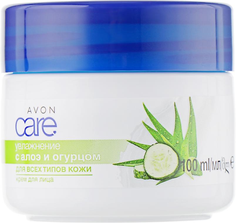 "Крем для лица с алоэ и огурцом ""Увлажнение"" - Avon Care Refreshing With Aloe And Cucumber Face Cream"