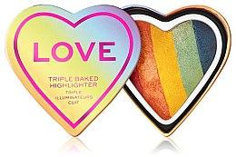 Духи, Парфюмерия, косметика Хайлайтер для лица - I Heart Revolution Love Triple Baked Highlighter