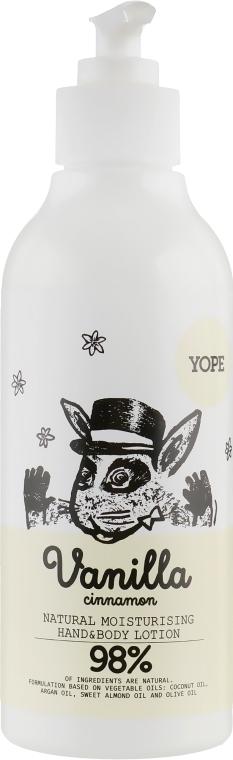 "Увлажняющий лосьон для тела ""Ваниль и корица"" - Yope Vanilla Moisturising Hand & Body Lotion"