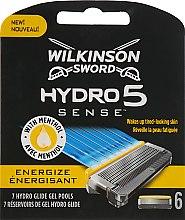 Парфумерія, косметика Набір змінних лез, 6 шт. - Wilkinson Sword Hydro 5 Energize