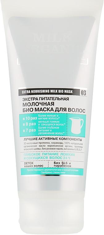"""Маска для волос """"Молочная. Экстра питательная""""- Organic Shop Organic Naturally Professional Mask"""