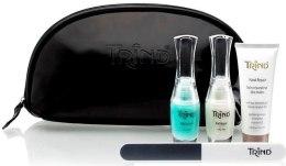 Духи, Парфюмерия, косметика Набор для ухода за ногтями и руками с сумкой - Trind Natural Nail Care (Bal/9ml + Rep/9ml + cr/25ml + Buf + Bag)